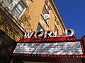 World Theater renovated marquee.JPG