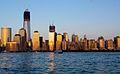 World Trade Center Construction Sunset From Jersey City.jpg