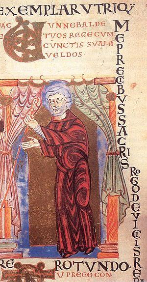 Winibald - Image: Wunibald Pontifikale Gundekarianum 11. Jahrhundert