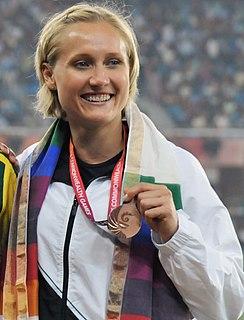 Andrea Hams New Zealand weightlifter and hurdler
