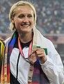 XIX Commonwealth Games-2010 Delhi Winners of Athletics (Women's 100m hurdles), Miller Andrea of New Zealand (Bronze) (cropped).jpg