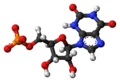 Xanthosine monophosphate anion ball.png