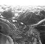 Yanert Glacier, rock covered valley glacier terminus, circa August 1968 (GLACIERS 5117).jpg