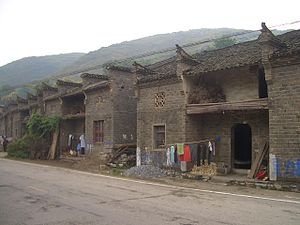 China National Highway 106 - Combined G106/G316 forms the main street of many villages in Yangxin County, Hubei