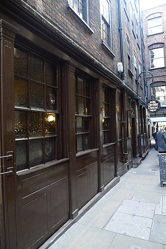 Ye Olde Cheshire Cheese - Ye Olde Cheshire Cheese is located in an alley off of Fleet Street