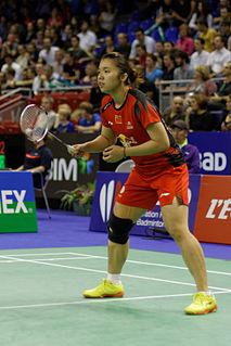 Tian Qing Badminton player