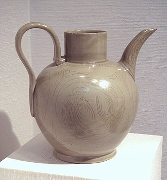 Yue ware - Yue ware stoneware, China, Five Dynasties, 10th century CE.
