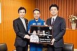 Yukihiko Akutsu Satoshi Furukawa and Koichiro Gemba 20110225.jpg