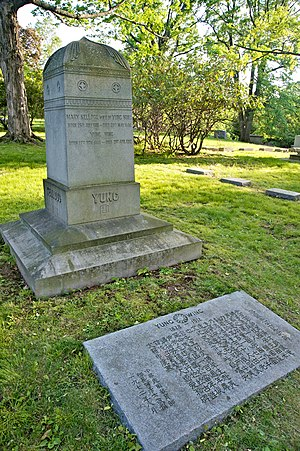 Cedar Hill Cemetery (Hartford, Connecticut) - Family plot of Yung Wing, the first Chinese graduate of an American university, Yale.