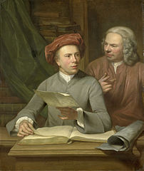 Self-portrait with Jan Maurits Quinkhard next to him