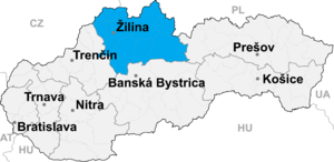 Čadca District - Image: Zilina kraj