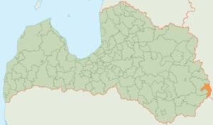 Zilupe Municipality - Image: Zilupes novada karte