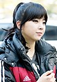 Zuny Kim going to a Music Bank recording in March 2014.jpg