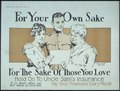 """For your sake. For the sake of those you love. Hold on to Uncle Sam's insurance. It is good after you are back in... - NARA - 512710.tif"