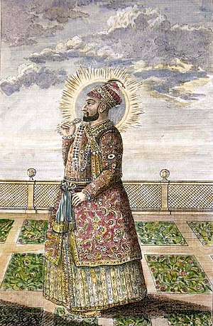 Hyder Ali - A steel engraving from the 1790s, with modern hand colouring