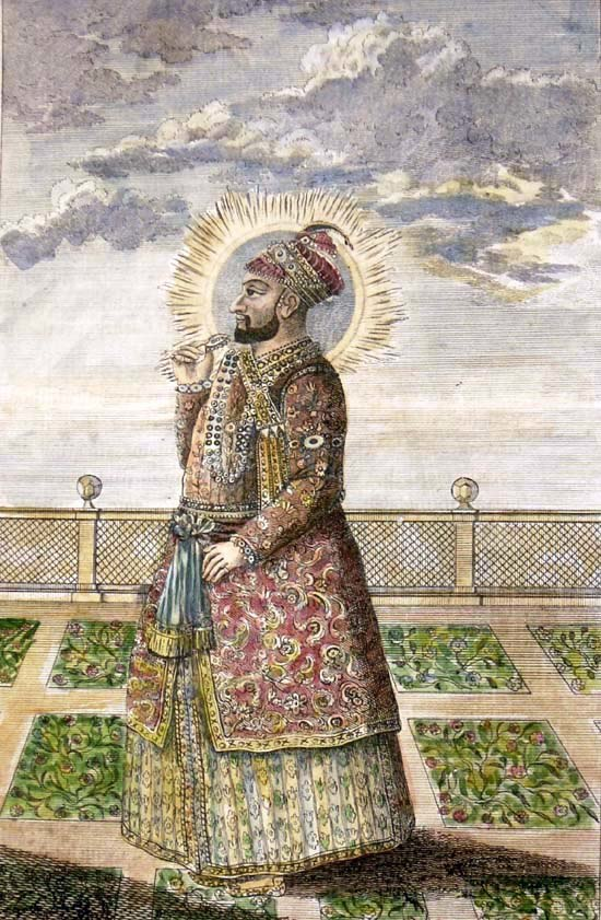 """""""Hyder Ali,"""" a steel engraving from the 1790's (with modern hand coloring)"""