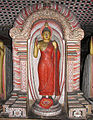 """Makara pandol"" over the image of Lord Buddha.jpg"