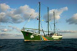 Die Rainbow Warrior im Bosporus (2009)