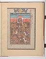 """Rustam Captures the Citadel of Mount Sipand"", Folio from a Shahnama (Book of Kings) MET DP215864.jpg"