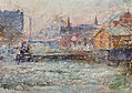 'Little Dock, Melbourne' by Frederick McCubbin, c. 1914.jpg