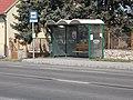 'Vasútállomás átjáró' bus stop, Route 81, 2019 Ászár.jpg