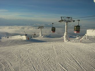Åre ski resort - View from the top of the lift system