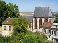 Écouen (95), église Saint-Acceul, vue depuis la terrasse du château.jpg