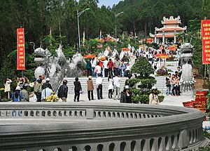 Vietnamese folk religion - People forgather at the new Trần Nhân Tông Shrine in Huế