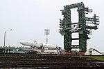 Вывоз и установка ракеты космического назначения «Ангара-1.2ПП» на стартовом комплексе космодрома Плесецк 05.jpg