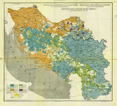 mapa kraljevine srbije Popis stanovništva 1921. u Kraljevini SHS — Vikipedija, slobodna  mapa kraljevine srbije