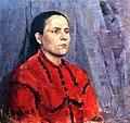 Женщина в красном платье (Картина В.Э. Вильковиской).jpg