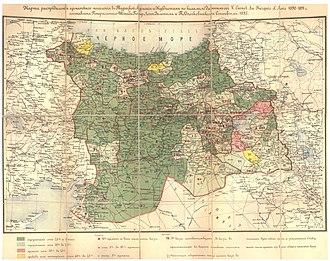 Demographics of the Ottoman Empire - Image: Карта распределения армянского населения в Турецкой Армении и Курдистане, 1895