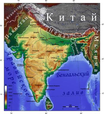 Индия Википедия Рельеф Индии