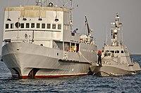 Ходові випробування двох малих артилерійських бронекатерів у відритому морі (27759025891).jpg