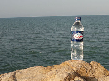 English: Damavand Mineral Water bottle