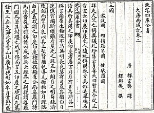 Great Tang Records on the Western Regions - Image: 大唐西域記(四庫)
