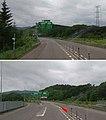 黒松内ジャンクション・分岐部(札幌側から、2018年7月に撮影したものを2枚合成).jpg
