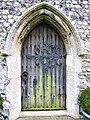 -2019-11-04 North doorway, Parish church of Saint John the Baptists' Head, Trimingham.JPG