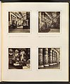 -Egyptian Court, Eastern Wall of Principal Court; Egyptian Court, Principal Facade towards the Nave; Lions in the Egyptian Court; -Colonnade Adorned with Egyptian Paintings- MET DP322154.jpg