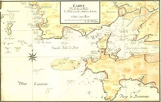 Château de Brest - Brest - Chart of the Coasts and Roads of Brest with its Batteries and Forts