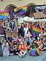02020 0429 (2) Equality March 2020 in Kraków, selfie with homophobes, Stop Bzdurom.jpg