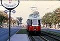 093L07030982 Eröffnung U Bahn Linie U1 bis Kagran, Wagramerstrasse , Blick Richtung Kagran, Strassenbahn Haltestelle Julius Payergasse.jpg