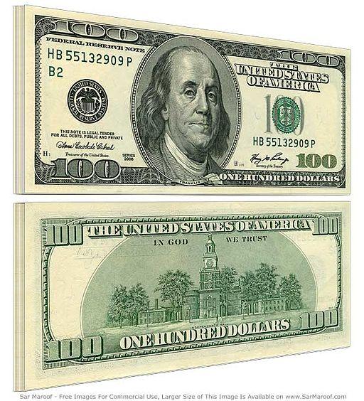 100 dollar bill old
