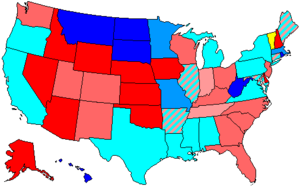 United States House of Representatives elections, 1994 - Image: 104 us house membership