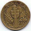 10 Centesimi di Lira - 1940 - Regno d'Italia 02.jpg