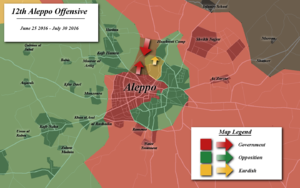 Aleppo offensive (June–July 2016) - Map of the offensive