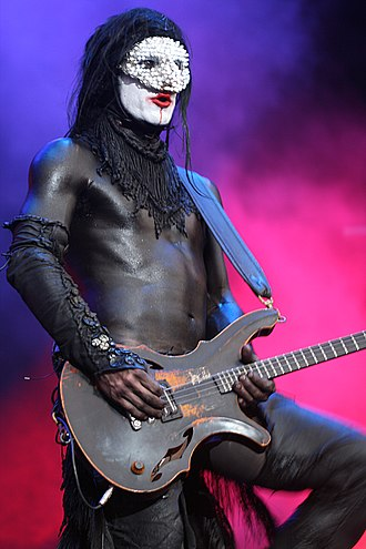 Wes Borland - Wes Borland is known for his visual performance style, and often performs wearing costumes or body paint.