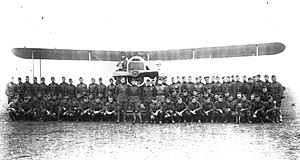 IV Corps Observation Group - Officers and men of the 135th Aero Squadron, November 1918, Croix de Metz Aerodrome (Toul), France