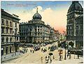 14212-Budapest-1912-Rakoczi-Straße mit Straßenbahnen-Brück & Sohn Kunstverlag.jpg