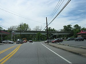 U.S. Route 522 in Maryland - US 522 bridge over MD 144 in Hancock as viewed from westbound MD 144